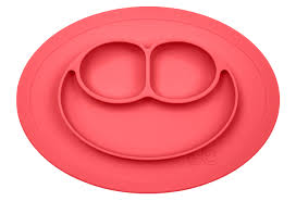 amazon com ezpz happy mat one piece silicone placemat plate