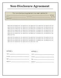 Non Disclosure Statement Template by Non Disclosure Agreement Template Tristarhomecareinc