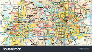Dallas Tx Map Dallas Fort Worth Texas Area Map Stock Vector 144155647 Shutterstock