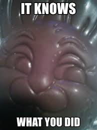 Chocolate Bunny Meme - it knows what you did funny chocolate bunny meme generator