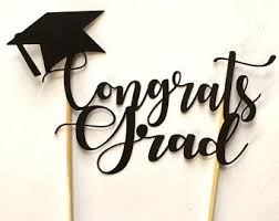 graduation cake toppers congrats grad 2017 cake topper or sign personalized with name