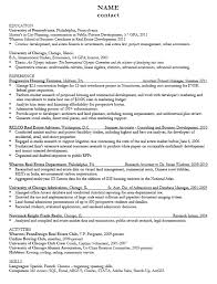 Gis Resume Sample by Career Services At The University Of Pennsylvania