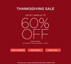 up to 60 saks fifth avenue thanksgiving sale dealmoon