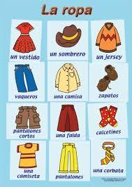 48 best spanish ropa images on pinterest spanish classroom