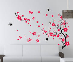large plum blossom flower removable wall sticker decor decal