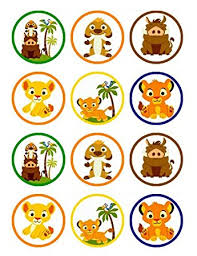 lion king cake toppers baby lion king edible cupcake toppers edible image birthday or