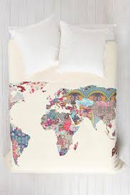 World Map Tablecloth by Bianca Green For Deny Louis Armstrong Told Us So Duvet Cover