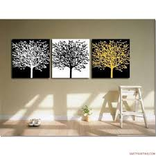 decor abstract painting canvas wall art set of 3 and interior