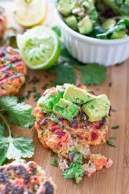 the bun salmon burgers with avocado salsa cooktoria