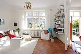 Organizing A Living Room by White Small Minimalist Living Room Modern Style Decor With White