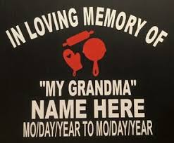 in loving memory items in loving memory decal sticker your color choice of
