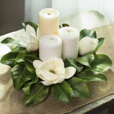 flower candle rings 16 magnolia flower candle ring 2839019wh craftoutlet