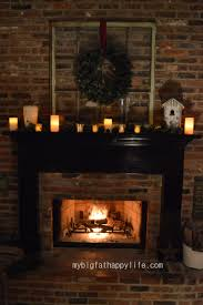 Candles For Fireplace Decor by Fireplace Mantels 3 Ways For Christmas My Big Fat Happy Life