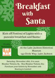 festival of lights lake jackson lake jackson historical museum santa