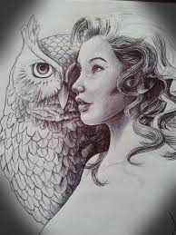 tattoo girl owl girl and owl tattoo design by mickmog on deviantart