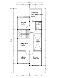 Two Story House Blueprints by Small Two Story House Plans 6mx15m House Affair