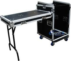 Dj Table Stand Mr Dj Case 6000 Pro Audio Equipment Case W Casters U0026 Table