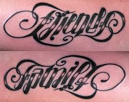 amazing family friends ambigram tattoo design in 2017 real photo