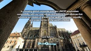 quotes education equality in choosing global corporate partners unicef emphasises