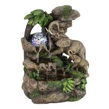 indoor water fountains home accents the home depot elephant table fountain