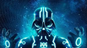 darth vader tron science fiction neon wallpaper 8980