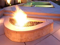 How To Build A Gas Firepit Outdoor Gas Pits Hgtv