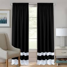 Black And Gold Drapes by Achim Curtains U0026 Drapes Window Treatments The Home Depot
