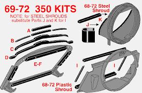 1972 corvette radiator 1972 corvette 350 seal kit for copper radiator plastic fan shroud