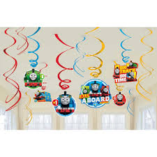 thomas the train birthday party supplies theme party packs thomas the train all aboard danglers