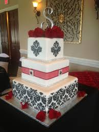 beautiful wedding cake we made tonight three tier red velvet with