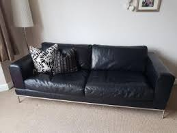 ikea black leather sofa ikea leather sofas second hand household furniture buy and sell