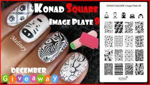 konad square image plate 8 animal zebra print stamping nail art