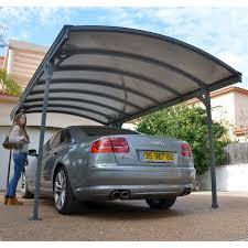 Car Port Designs by Palram Vitoria 5000 Arch Top Carport 16 5 X 9 5 Ft Gray