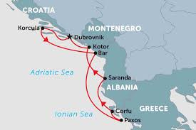 Adriatic Sea Map Adriatic Coastal Cruising Adriatic Odyssey Greece Tours
