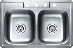 33 by 22 kitchen sink 33 x 22 top mount 4 hole double bowl kitchen sink 6 deep home