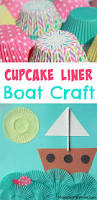 cupcake liner boat craft ocean themed crafts boat crafts and