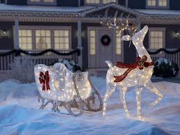top outdoor reindeer decorations lighted pavillion
