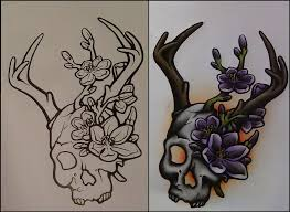 skull something ish neotraditional tattoo design by scream stay