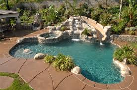 pool with rock slide pools pinterest rock backyard and