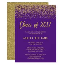 purple graduation invitations announcements zazzle