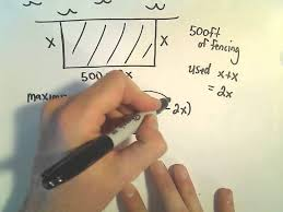 optimization problem 4 max area enclosed by rectangular fence