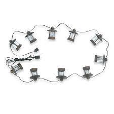 Patio String Lights Lowes Shop Royce Lighting 16 Ft Rubbed Bronze C7 Ten Light String