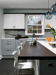 kitchen grey white stained wooden base wall cabinets drawer