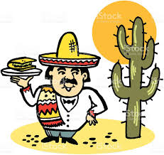 cartoon sombrero vector cartoon of mexican man with taco stock vector art 482778648