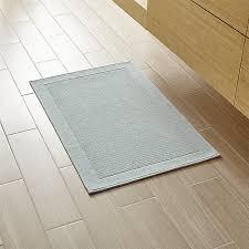 Spa Bathroom Rugs Westport Spa Blue Bath Rug In Bath Rugs Reviews Crate And Barrel