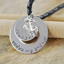 personalized mens necklaces mens sted necklace mens personalized jewelry washer