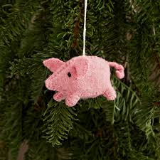 felt pig ornament west elm