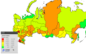 russia map by population russia map of russian regions population by respublika kray oblast