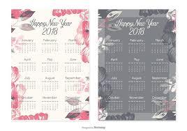 new year 2018 calendar cards free vector stock