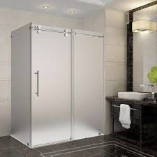 frosted glass shower door frameless frosted frameless corner shower doors shower doors the